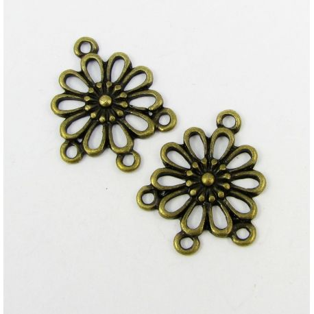 "Distributor ""Flower"" aged bronze color 4 loops 23x19 mm"