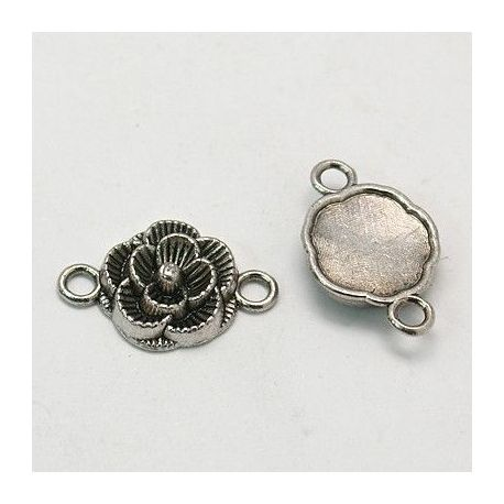 """Distributor """"Flower"""" aged silver color 2 loops 12x4 mm"""