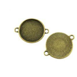 Соединительные звенья для кабошона / камарадиации 25х20 мм, 1 шт.