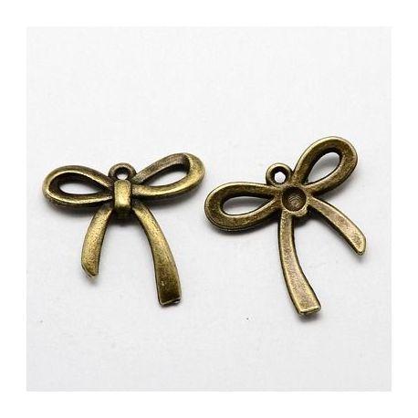 "Pendant ""Ribbon"", aged bronze 25x24 mm"