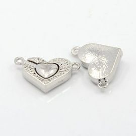 "Magnetic ""Heart"" magnetic clasp 24x14 mm, 1 pcs."