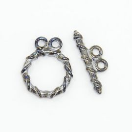 Necklace clasp 18x15 mm, 4 dial