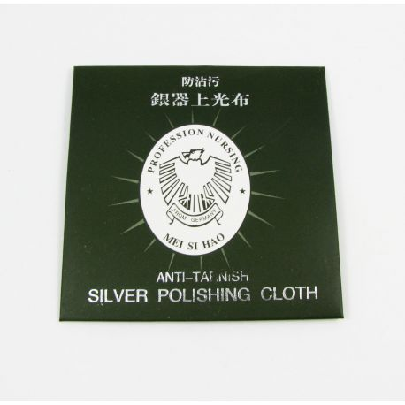 Napkin for silver cleaning, size about 82x82 mm , 1 pcs.