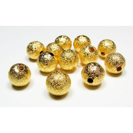Brass insert gold color, size 8 mm, 10 pcs