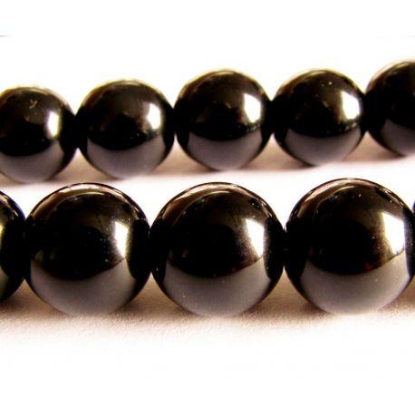 Onyx beads black round shape 10mm