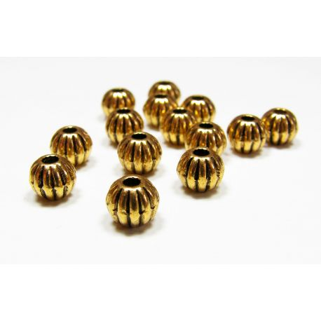 Insert aged gold, size 7 mm, 10 pcs