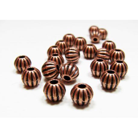 Insert aged copper color, size 7 mm, 10 pcs