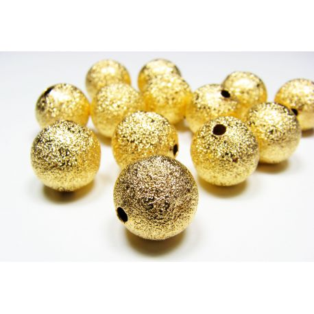 Brass insert gold color, size 12 mm, 6 pcs