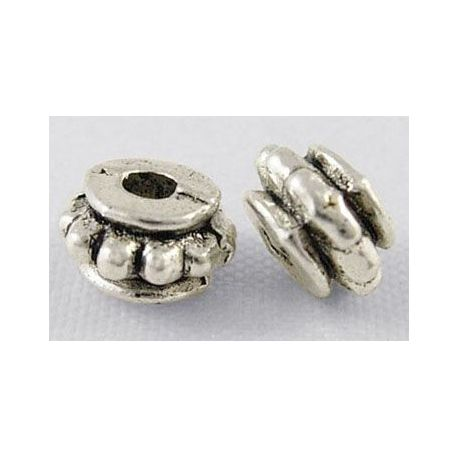 Insert aged silver color, size 6x4 mm, 10 pcs