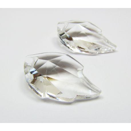 Swarovski crystal, transparent, sheet shaped, size ~25x15 mm