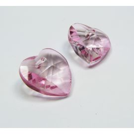 "SW crystal pendant ""Heart"" 18 mm, 1 pcs."