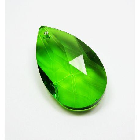 Swarovski crystal, green, drop shape, size ~38x22 mm
