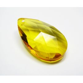 Swarovski crystal, yellow, drop shape, size ~38x22 mm