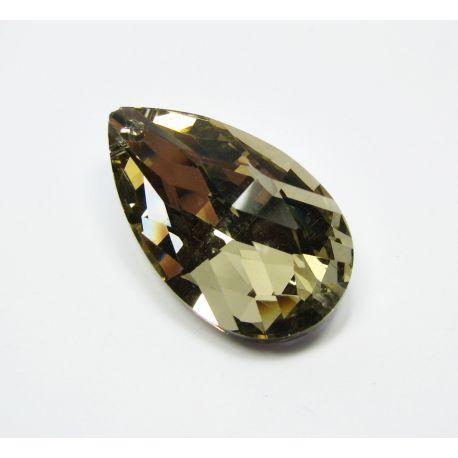 Swarovski crystal, light brown, drop shape, size ~38x22 mm