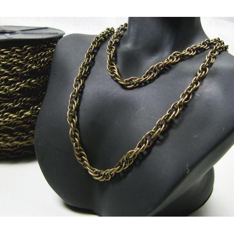 Chain aged bronze, length 5x4 mm, 50 cm
