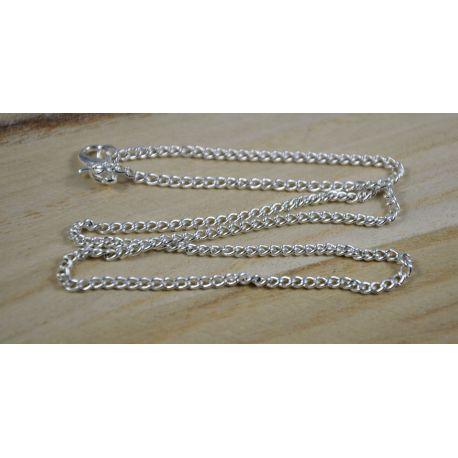 Silver chain, length 2.5 mm, 41 cm