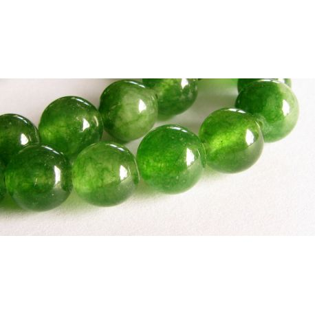 Emeraldo karoliukai žalios spalvos apvalios formos 8mm