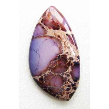 Jaspio stone cabochon violet color 51x26x5mm