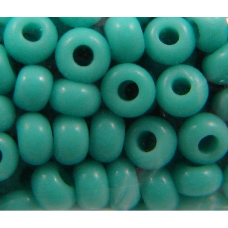 Preciosa Seed Beads (63130-10) blue - turquoise, 50 g