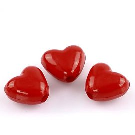 Acrylic beads bright red sp., size ~11x10 mm, 10 pcs.