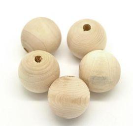 Бусины деревянные 30 мм, 4 шт.