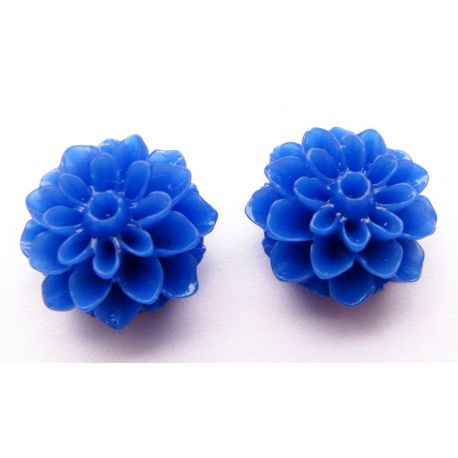 Kamėja - gėlytė mėlynos spalvos apvalios formos 16x8mm