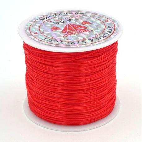 Elastic rubber red color 0.80 mm thick 10 meters