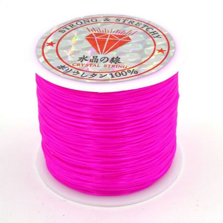 Elastic rubber bright pink 0.80 mm thick 10 meters