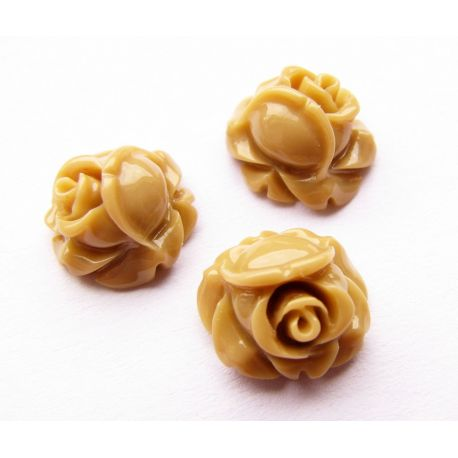 Кама - роза светло-коричневая 10х10мм