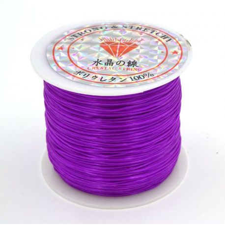 Elastic rubber of purple color 0.80 mm thick 10 meters