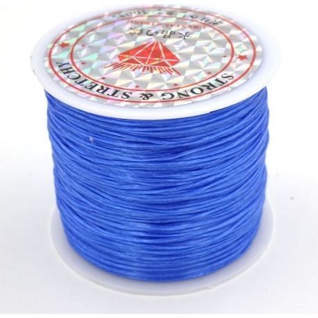Elastic rubber bright blue 0.80 mm thick 10 meters