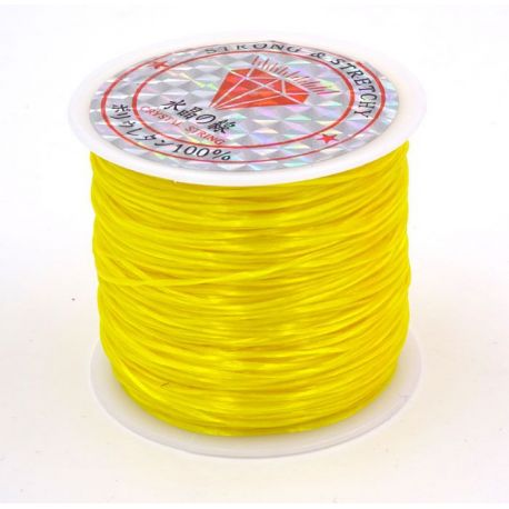 Elastic rubber yellow color 0.80 mm thick 10 meters