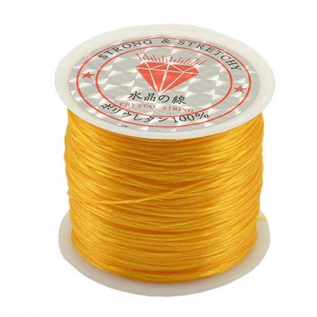 Elastic rubber orange color 0.80 mm thick 10 meters