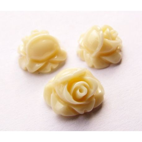 Kama - rose for the manufacture of jewelry pastel brown 10x10 mm
