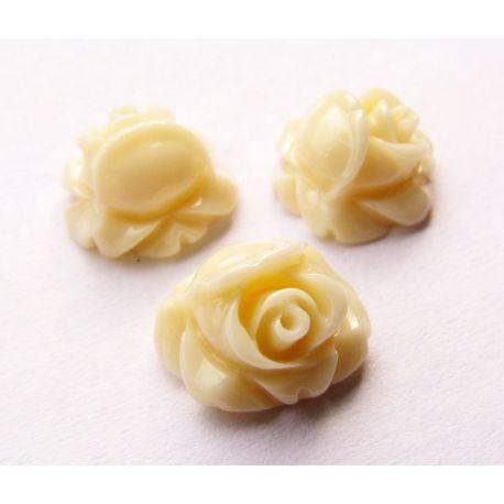 Кама - роза для изготовления украшений пастельно-коричневая 10х10 мм.