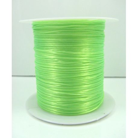 Elastic rubber bright salad color 0.80 mm thick 10 meters