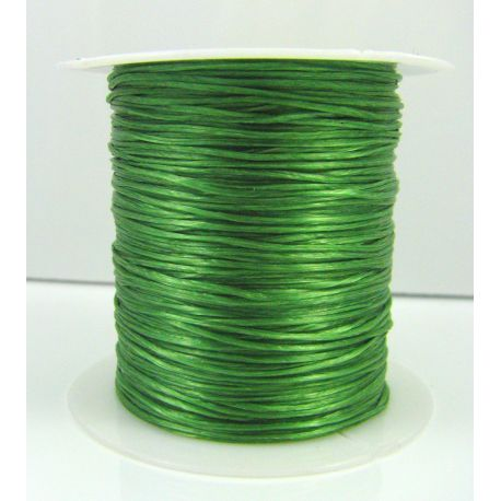 Elastic rubber green color 0.80 mm thick 10 meters