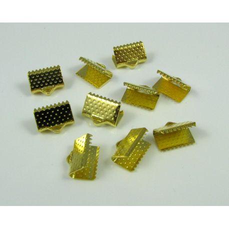 Strip clamp, gold color, size 10x6, 10 pcs.