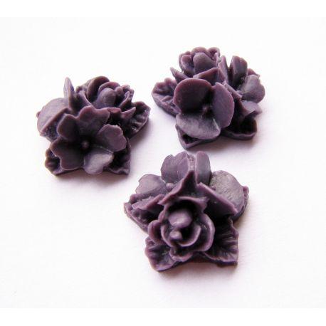 Kamėja - gėytė tamsiai violetinės spalvos 16x16mm