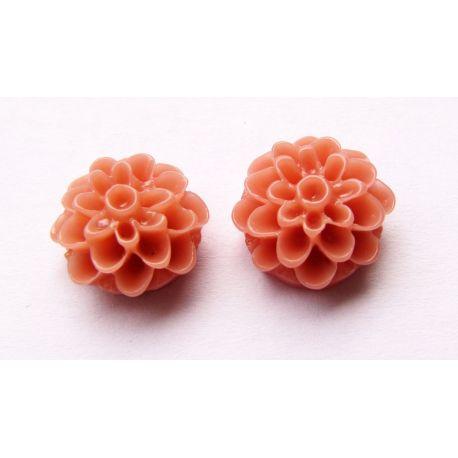 Kamėja - gėlytė rožinės spalvos apvalios formos 13x13mm