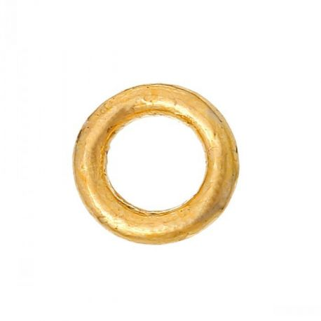Closed ring for needlework gold color 4 mm 10 pcs.