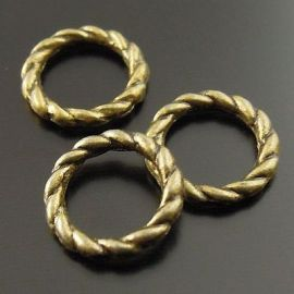 Closed decorative jump rings 8 mm, 10 pcs.