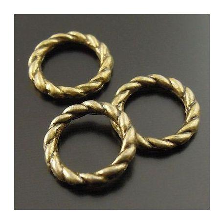 Closed decorative ring bronze color 8 mm 10 pcs.