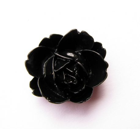Kama - rose for the manufacture of jewelry black 21x19mm