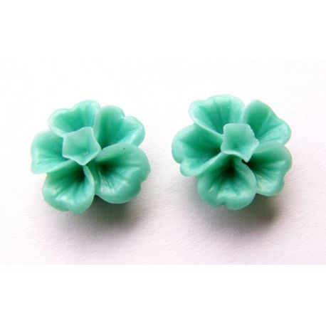 Kama - a flower for the manufacture of jewelry - needlework, green 13x13mm