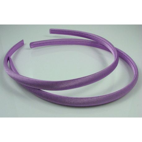 Hair hoop, with satin, lilac color 1 pcs.