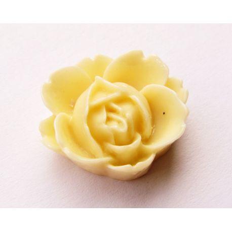 Kamėja - rožytė geltonos spalvos 21x19mm