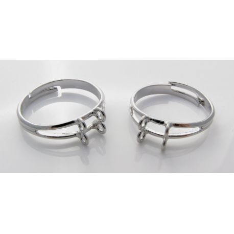 Ring base, silver, 17 mm