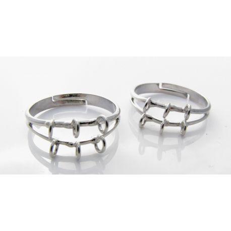 Ring base, dark silver, 17 mm