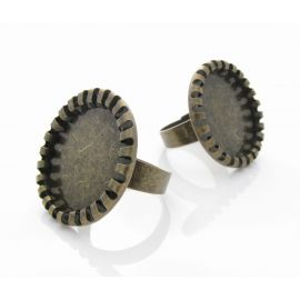 Ring base for cabochon 17 mm, 1 pcs.